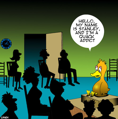 Cartoon: Crack addiction (medium) by toons tagged quack,aa,meeting,ducks,crack,drugs,addictions,seek,help,ice,meth,quack,aa,meeting,ducks,crack,drugs,addictions,seek,help,ice,meth