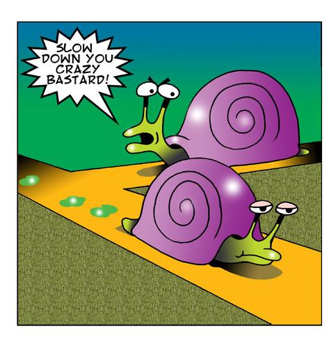 cartoon crazy bastard medium by toons tagged road rage snails slugs