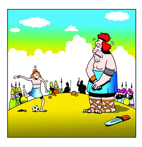 Gallery For > David And Goliath Cartoon
