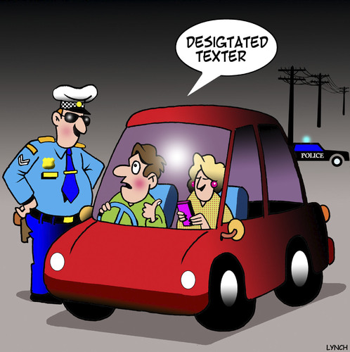 Cartoon: Designated driver (medium) by toons tagged texting,designated,driver,while,driving,highway,patrol,speeding,texting,designated,driver,while,driving,highway,patrol,speeding