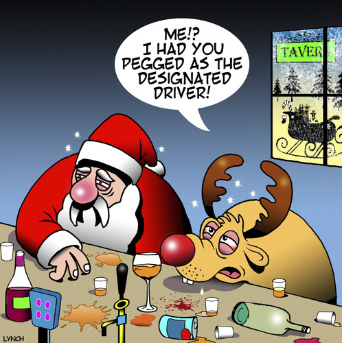 Cartoon: Designated driver (medium) by toons tagged santa,designated,driver,rudolph,the,reindeer,drunk,animals,christmas,xmas,santa,designated,driver,rudolph,the,reindeer,drunk,animals,christmas,xmas