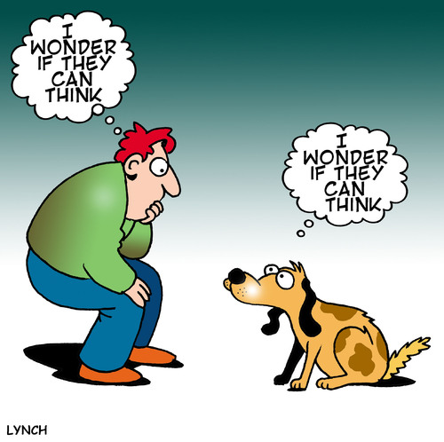 Cartoon: dog think (medium) by toons tagged dogs,canine,philosophy,thought,bubble