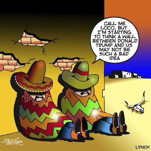Image result for trump and mexico cartoon
