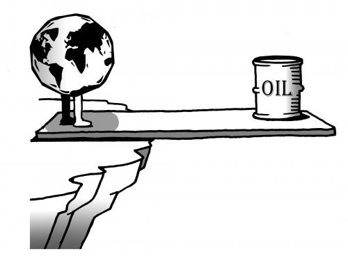 cartoon earth images. Cartoon: earth vs oil (medium)