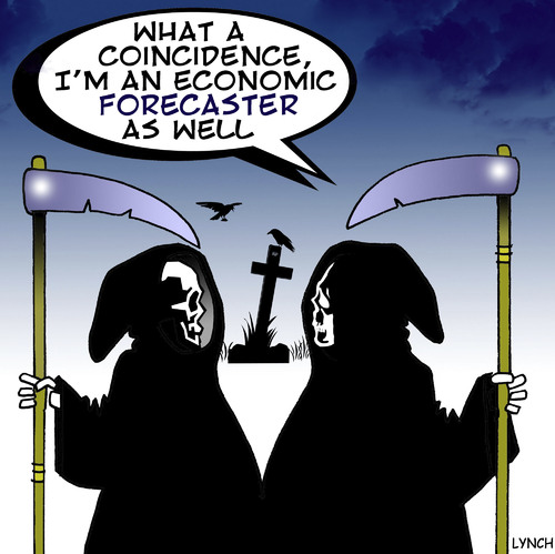 Cartoon: economic forecaster (medium) by toons tagged halloween,economic,forecast,financial,advisor,wealth,death,horsemen,afterlife,economy,gfc