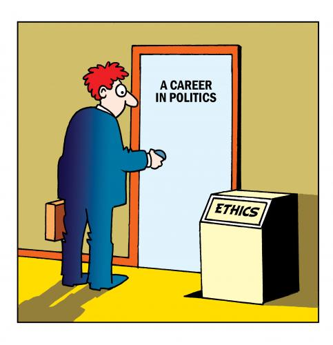 Cartoon: ethics (medium) by toons tagged politics,ethics,honesty,politicians,career