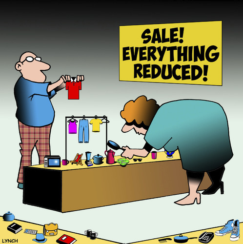 Cartoon: Everything reduced (medium) by toons tagged retail,sales,miniatures,everything,reduced,sale,items,small,things,retail,sales,miniatures,everything,reduced,sale,items,small,things