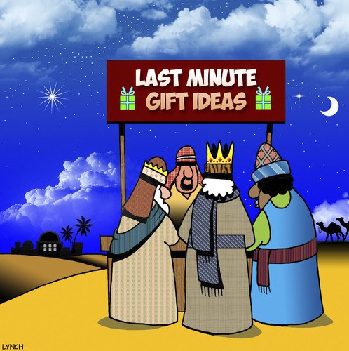 Cartoon: Gift shop (medium) by toons tagged gift,ideas,wise,men,christmas,last,minute,bethlehem,xmas,gift,ideas,wise,men,christmas,last,minute,bethlehem,xmas