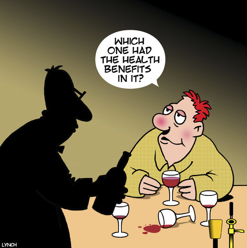 Cartoon: Health benefits of red wine (medium) by toons tagged red,wine,health,benefits,of,drunk,vino,alcohol,red,wine,health,benefits,of,drunk,vino,alcohol