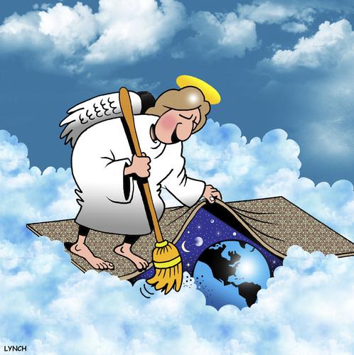 Heavens Rubbish By Toons Religion Cartoon Toonpool