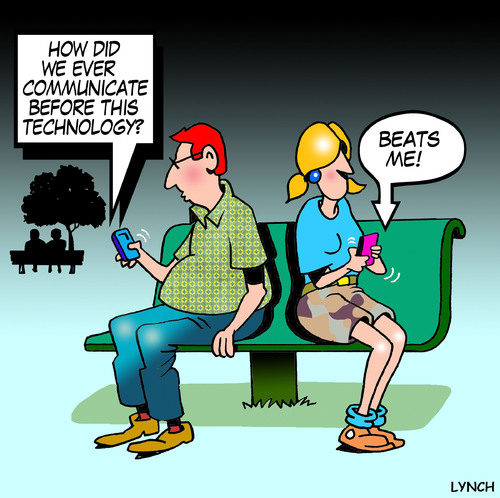 How did we communicate medium by toons tagged social networking