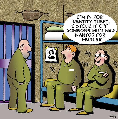 identity theft by toons business cartoon toonpool cartoon identity theft medium by toons tagged identity theft murder