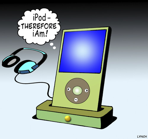 Ipod Therefore Iam By Toons Media Culture Cartoon Toonpool