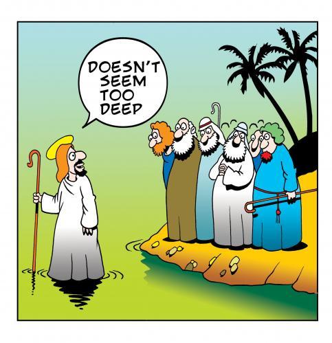 jesus joke about walking on water