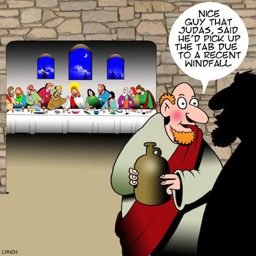 Judas By toons | Religion Cartoon | TOONPOOL