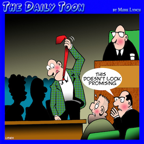 Cartoon: Jury verdict (medium) by toons tagged jury,guilty,verdict,hanging,defendant,lawyers,foreman,jury,guilty,verdict,hanging,defendant,lawyers,foreman