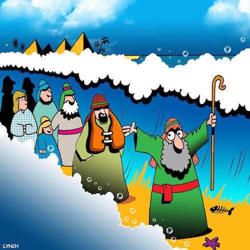 Cartoon: Life jacket (medium) by toons tagged moses,parting,the,sea,life,jacket,preserver,israelites,moses,parting,the,sea,life,jacket,preserver,israelites