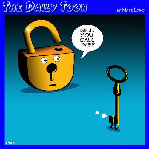 Lock and key By toons | Love Cartoon | TOONPOOL