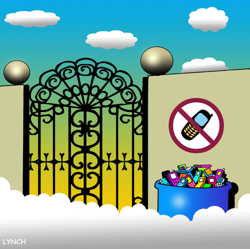 mobile free zone by toons religion cartoon toonpool. Black Bedroom Furniture Sets. Home Design Ideas