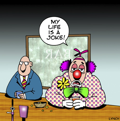 my life is a joke by toons philosophy cartoon toonpool. Black Bedroom Furniture Sets. Home Design Ideas