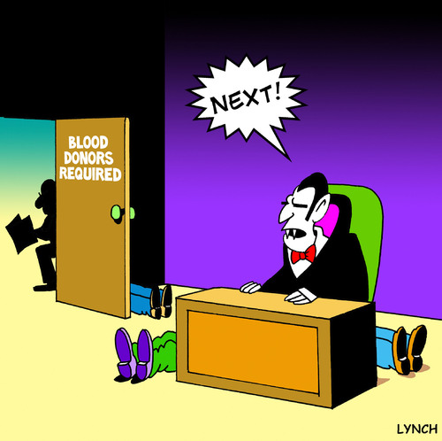 Cartoon: next (medium) by toons tagged vampires,blood,donors,twighlight,medical,doctor