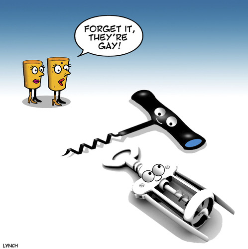 Cartoon: No screw tonight (medium) by toons tagged singles,wine,casual,homosexuality,corks,corkscrew,gay,infidelity,clubs,buff,single,girls,online,dating,gay,corkscrew,corks,homosexuality,casual,sex,wine,singles,infidelity,clubs,buff,single,girls,online,dating