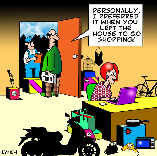 Cartoon: on line shopping (medium) by toons tagged shopping,online ...