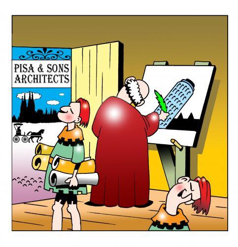 Tower Pisa Cartoon Cartoon Pisa And Sons