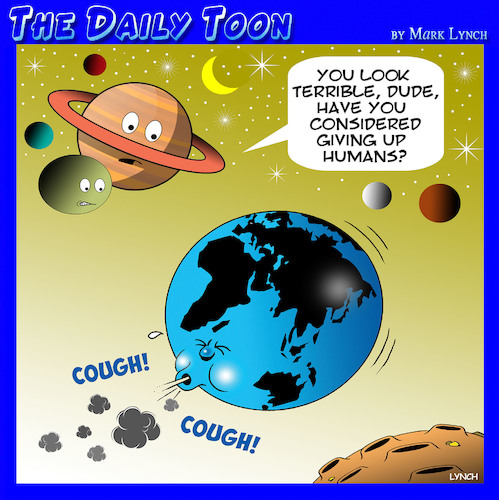 Cartoon: Planet earth (medium) by toons tagged pollution,climate,change,global,warming,human,stain,pollution,climate,change,global,warming,human,stain