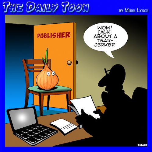 Cartoon: publishers (medium) by toons tagged tearjerker,novels,publishing,books,writers,authors,tearjerker,novels,publishing,books,writers,authors