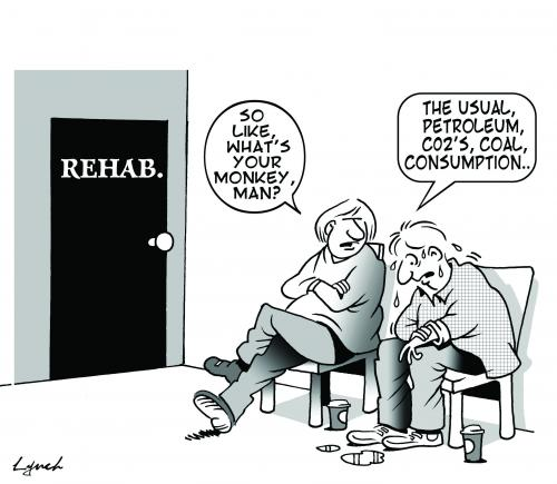 Cartoon: rehab (medium) by toons tagged environment,ecology,greenhouse,gases,pollution,earth,day,