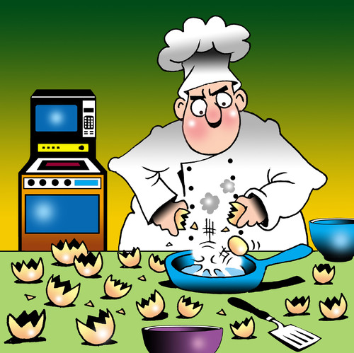 Cartoon: Russian eggs (medium) by toons tagged russian,dolls,eggs,cooking,poultry,chef,cook,kitchen,utensils,food,preparation,tantrum,cakes,baking,microwave