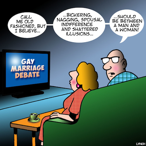 Cartoon: Same sex marriage (medium) by toons tagged gay,marriage,same,homosexuality,gay,marriage,same,sex,homosexuality