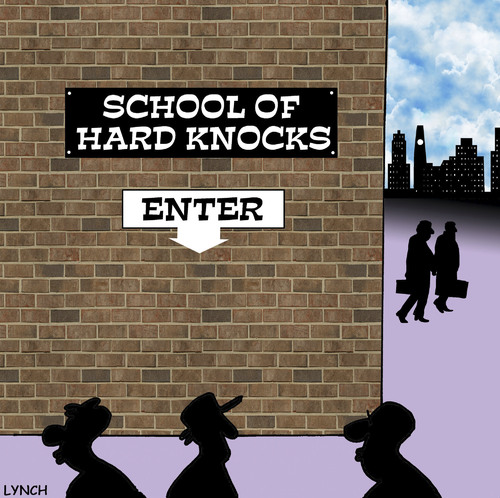 school of hard knocks by toons education tech cartoon. Black Bedroom Furniture Sets. Home Design Ideas