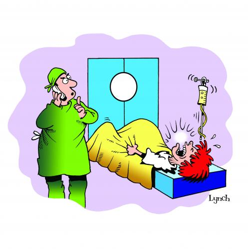 Cartoon: Shhhh (medium) by toons tagged birth,hospitals,doctors,baby,pregnant,phones,cell