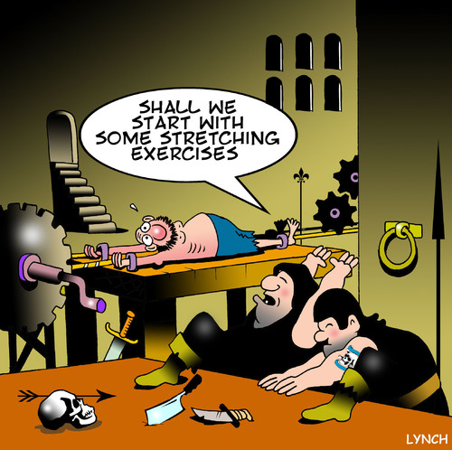 Stretching Exercises By Toons Media Culture Cartoon Toonpool