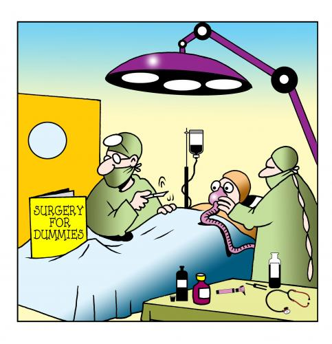 Cartoon: surgery for dummies (medium) by toons tagged surgery,hospitals,doctors,nurses,patients,dummies