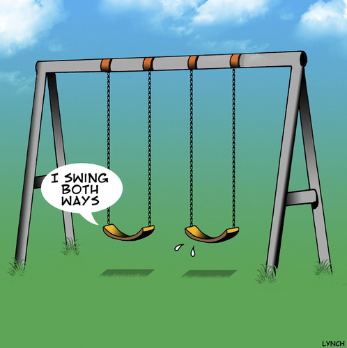 Swings both ways By toons | Love Cartoon | TOONPOOL