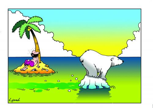 Cartoon: the big melt (medium) by toons tagged environment,ecology,greenhouse,gases,pollution,earth,day