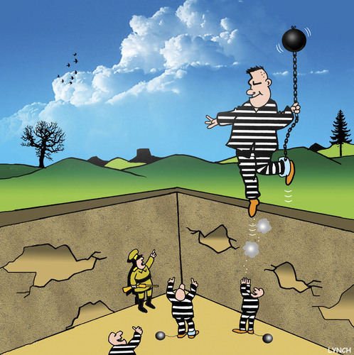 Cartoon: The Great Escape (medium) by toons tagged prison,balloons,escape