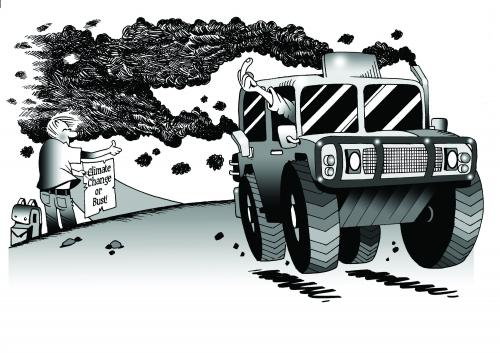 Cartoon: the hummer (medium) by toons tagged environment,ecology,greenhouse,gases,pollution,earth,day