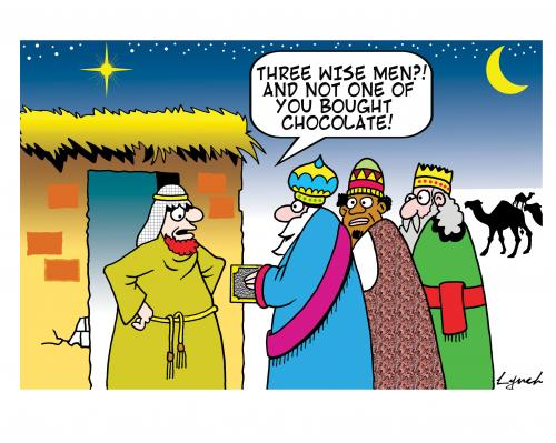 Cartoon: three wise men (medium) by toons tagged xmas,three,wise,men,jesus,joseph,and,mary,nazereth,bible,god,christmas