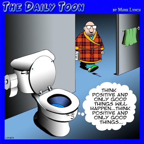 Cartoon: Toilet humor (medium) by toons tagged toilets,positive,thinking,wellbeing,toilet,bowl,lifestyle,coach,bathrooms,crap,toilets,positive,thinking,wellbeing,toilet,bowl,lifestyle,coach,bathrooms,crap