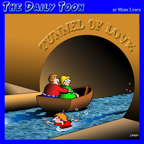Cartoon: Tunnel of love (medium) by toons tagged tunnel,of,love,unrequited,courtship,tunnel,of,love,unrequited,courtship