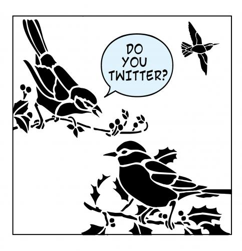 Cartoon: twitter (medium) by toons tagged twitter,comunications,mail,mobile,phones,gen,latest,craze,self,absorbed