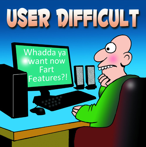 Cartoon: User Difficult (medium) by toons tagged farting,computersfacebook,social,networking,laptop,crude,rude,insults,user,friendly,google,search,engine,internet,online