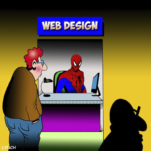 Cartoon: Web designer (medium) by toons tagged spiderman,web,designer,spiders,search,engine,optimization,world,wide,spiderman,web,designer,spiders,search,engine,optimization,world,wide