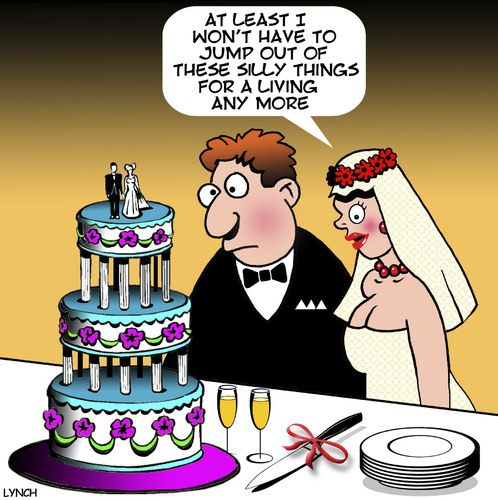 Funny Cartoon Cake Images : Wedding cake By toons Love Cartoon TOONPOOL