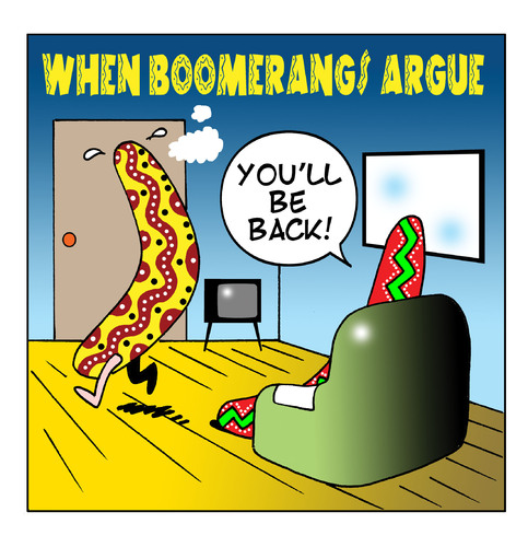 When Boomerangs Argue By Toons Love Cartoon Toonpool