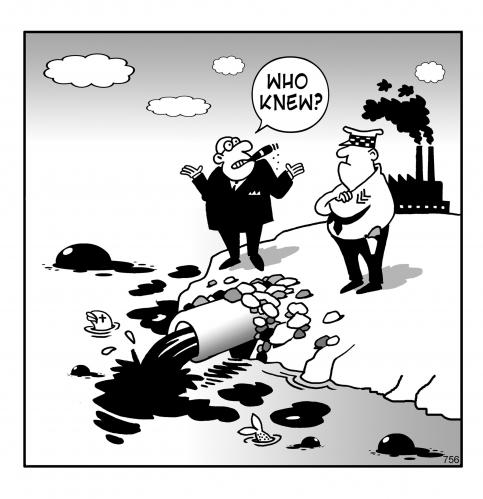 Cartoon: who Knew? (medium) by toons tagged pollution,environment,ecology,greenhouse,gases,earth,day